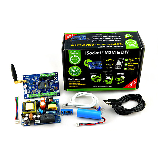 Isocket gsm modem kit 1 kit for building diy remote control and kit with all accessories for designing your own remote control system solutioingenieria Images